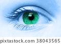 Macro view of a young women eye 38043565