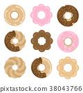 甜甜圈插圖集 38043766