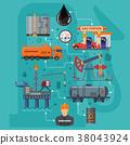 oil rig vector 38043924