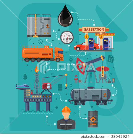 Oil Industry Infographics 38043924