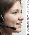 Young female customer service agent 38044185