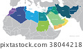 Map of Middle East. Vector 38044218