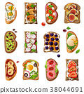 Sandwiches Cartoon Set 38044691