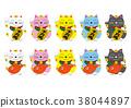 招财猫 吉祥物 幸运符 38044897