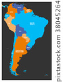 america, south, map 38045264