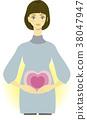 임산부 이미지 일러스트 2 38047947