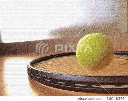 Tennis racket ball 38048361
