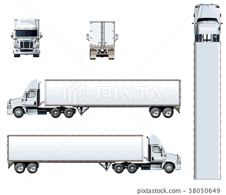 Vector truck template isolated on white 38050649