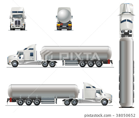 Vector realistic tunker truck template isolated 38050652