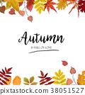 Vector floral card design. Autumn season border 38051527