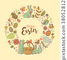 Cute Easter festive frame 38052812