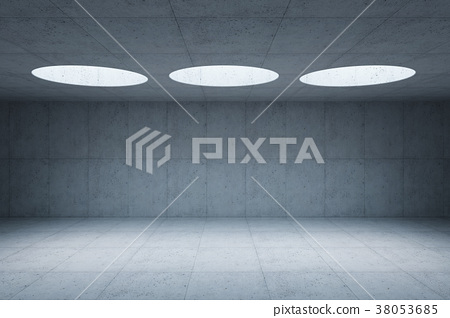 blank concrete space interior, 3d rendering 38053685