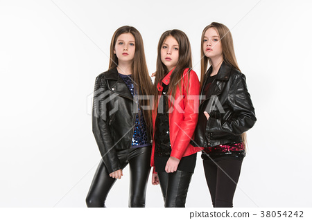 Studio portrait of young attractive caucasian teen 38054242