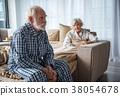 old, man, depressed 38054678