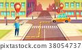 vector, taxi, app 38054737