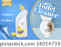 Vector poster of toilet cleaner ads, before and 38054739