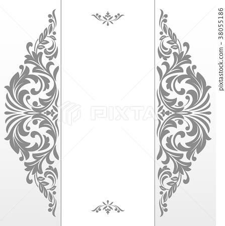 Vintage grey frame on a white background. Graphic - Stock ...