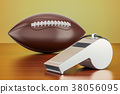 American football ball with whistle 38056095