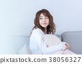 젊은 여성, 초상화, 휴일, 휴식 38056327