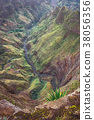 Breathtaking panorama of a steep gorge with 38056356