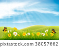 Spring nature landscape background with flower 38057662