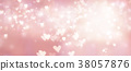 Shiny hearts and abstract lights background 38057876