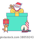 illustration Christmas puppy 38059243