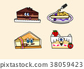 cartoon illustration, set of snack food theme 010 38059423