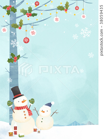Vector - Card template with Christmas. Christmas concept frame designs 003 38059435