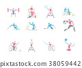 Simple linear pictogram, Olympic concept set 005 38059442