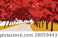 Vector of autumn landscape, colorful background 012 38059443