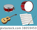Vector illustration- various retro concept object. vintage illustration, instrument, tea, climbing equipment and so on 006 38059450