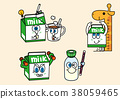 cartoon illustration, set of snack food theme 018 38059465
