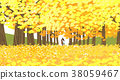 Vector of autumn landscape, colorful background 010 38059467