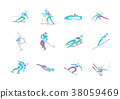 Simple linear pictogram, Olympic concept set 006 38059469