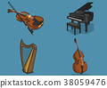 Vector illustration- various retro concept object. vintage illustration, instrument, tea, climbing equipment and so on 003 38059476
