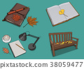 Vector illustration- various retro concept object. vintage illustration, instrument, tea, climbing equipment and so on 001 38059477
