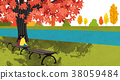 Vector of autumn landscape, colorful background 011 38059484