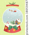 Vector - Card template with Christmas. Christmas concept frame designs 004 38059487