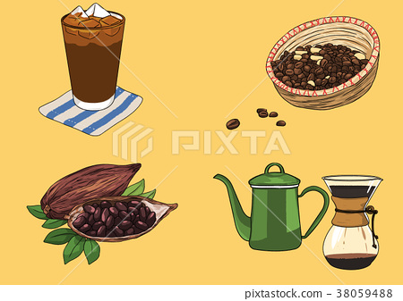 Vector illustration- various retro concept object. vintage illustration, instrument, tea, climbing equipment and so on 010 38059488