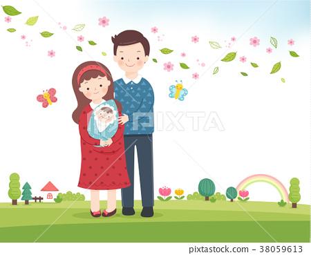 Family Planning Vector Illustration 38059613
