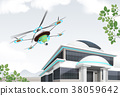 Drone In Use Vector Illustration 38059642