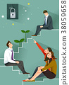 Job Hiring Process - Hopeless job seekers vector illustration 38059658