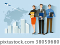 Job Hiring Process - Newly employed vector illustration 38059680