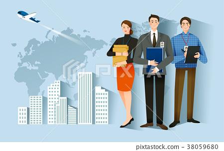 Job Hiring Process - Newly employed vector illustration 38059680