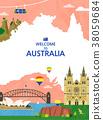 Traveling Overseas - vector 38059684