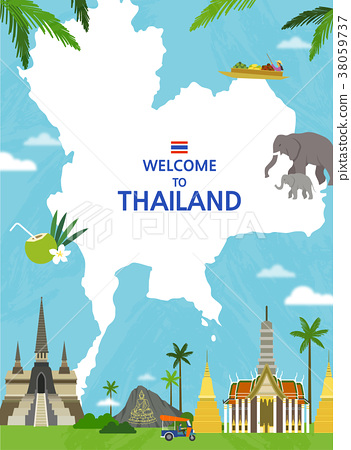 Traveling Overseas - vector 38059737