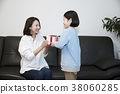 A cordial mommy and little girl, family concept photo 327 38060285