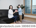 A cordial mommy and little girl, family concept photo 329 38060306