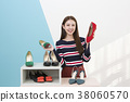 Everyday life of beautiful young woman, shopping, working concept photo in studio shot white background. 356 38060570